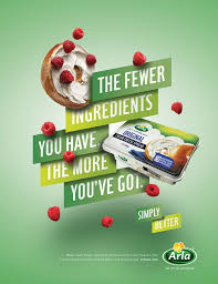 Food Product Poster Design Arla On Behance Food Poster Design Creative Advertising