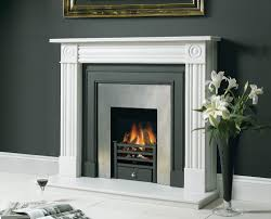 stovax small amhurst fire basket in black cast iron with log effect gas fire shown in stovax belgravia front