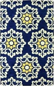 yellow and white area rug navy blue home design black