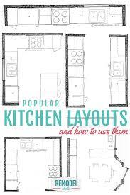 best 25 kitchen layout design ideas on pinterest kitchen layouts work triangle and interior work