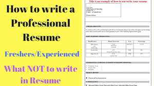 Write The Perfect Resume How To Write A Perfect Resume Tips For Freshers Experienced 24
