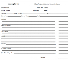 Catering Invoice Sample Custom Download 44 Catering Invoice Template Bring It Up Top Template