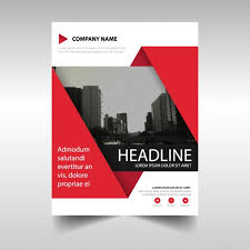 Template For Template For Geometric Brochure Red Color Vector Free