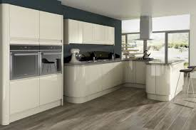 Floor To Ceiling Kitchen Pantry Opal Gloss Stone Kitchen Units For Modern Kitchen With The White