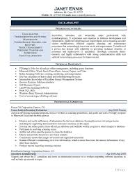Data Analyst Resume Sample Inspirational Business Analyst Resume