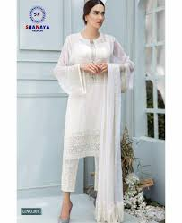 Pakistani Dress Designs Pictures Shanaya Fashion Rose Art Georgette Pakistani Dress