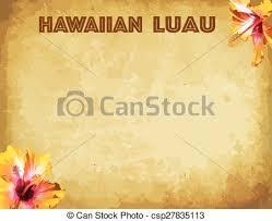 Hawaiian Luau Party Invitation Card Hawaiian Luau Party Invitation