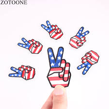 <b>ZOTOONE</b> Finger <b>Patches</b> Iron on For Clothing Cheap Embroidered ...
