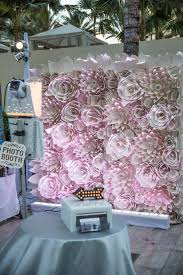 Paper Flower Photo Booth Backdrop Dramatic Blush Paper Flower Photo Booth Backdrop