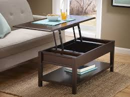 Woodboro Lift Top Coffee Table Woodboro Rustic Dark Brown Finish Lift Top Cocktail Table With