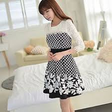 Resultado de imagem para coreana com vestido em desenho