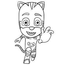 Pj Masks Coloring Pages Combined With Simple Masks Coloring Pages