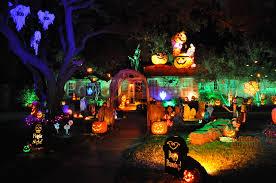 outdoor lighted pumpkin decorations