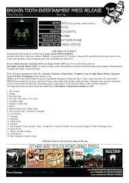 Album Press Release Template Music Artist Example Sample Kit Psd