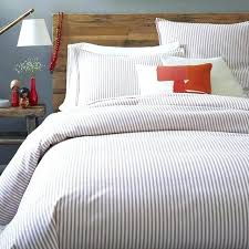 natural linen ticking striped duvet cover with knot ties stripe image 0 ticking stripe