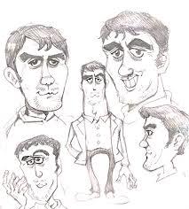 ハーフっぽいかっこいいおじさんの描き方阿部寛さんの似顔絵イラスト