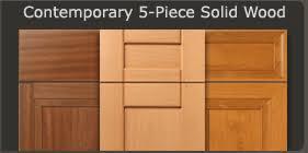 modern cabinet doors. Contemporary 5-Piece Cabinet Doors Modern N