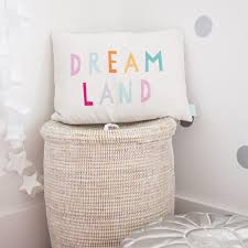 ... Closeup of Dreamland pillow by Parade and Company in girls room ...
