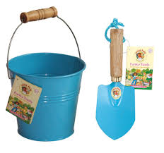 childrens blue bucket and trowel kit