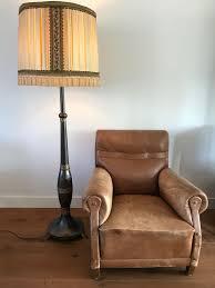 Grote Vintage Staande Lamp Schemerlamp