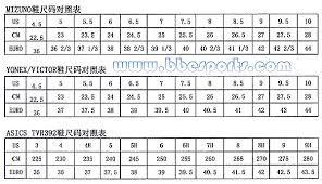 Chasse Shoe Size Chart 63 Correct Asics Shoe Size Chart Vs Nike