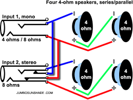 speaker wiring diagram series parallel speaker jumbo sunshade stereo speaker wiring diagrams on speaker wiring diagram series parallel
