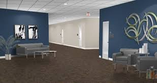 wall color for office. navy wall color works with existing tan and gray for office f