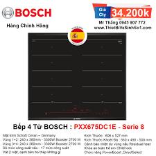 Bếp Từ BOSCH PXX675DC1E Serie 8   Tổng Kho Bếp Chính Hãng Hà Nội