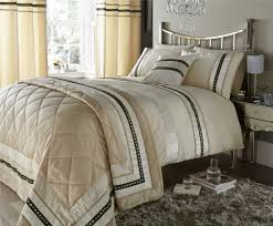 contemporary cream bedding set range duvet coveratching filled cushion throwover and curtains available