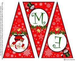 Printable Letter For Banners Printable Merry Christmas Letter Banner Christmas Printables