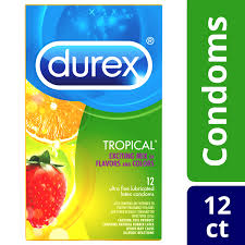 Durex Tropical Ultra Fine Flavored Lubricated Latex Condoms