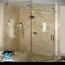 glass corner shower door