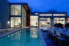 home swimming pools at night. Modern House With Pool Swimming Night View At Contemporary Design In East By Blaze Home Pools