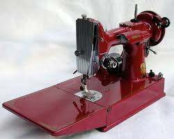 Red Featherweight Sewing Machine