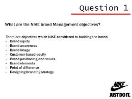 brand management objectives nike brand management