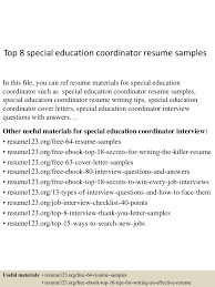 top8specialeducationcoordinatorresumesamples 150511064900 lva1 app6892 thumbnail 4 jpg cb 1431326986