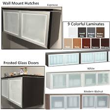 glass door wall hutch