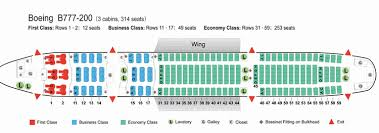 Boeing 777 300er Seating Chart Thai Airways Air China Airlines Boeing 777 200 Aircraft Seating Chart