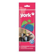 <b>Набор губок</b> для мытья посуды <b>York</b> полипропилен 80x80x25 мм ...