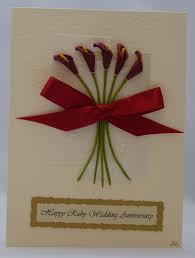 handmade card ruby wedding anniversary 5 00 concept of diy anniversary cards