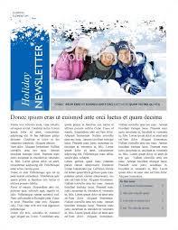 Winter Newsletter Template Newsletter Templates