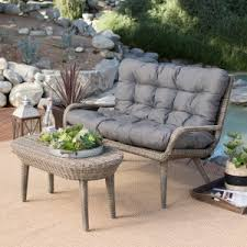 small space patio furniture sets. Belham Living Rio All Weather Wicker Loveseat And Coffee Table Small Space Patio Furniture Sets