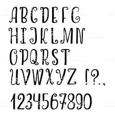 白い背景上の手書き文字英語のアルファベットのベクトル文字非公式の