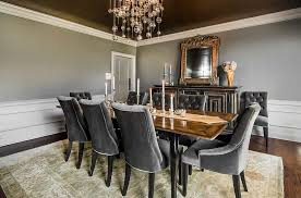 transitional dining room sets. Extensive Use Of Gray In The Transitional Dining Room [Design: E.V.M. Bespoke Design] Sets
