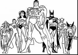 Justice League Black And White Coloring Pages Print Coloring