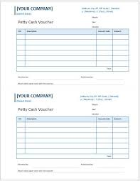 petty cash reimbursement template petty cash voucher templates for ms word word excel