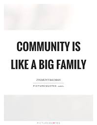 Quotes About Community Unique Community Is Like A Big Family Picture Quotes