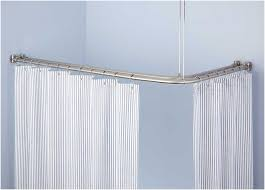 corner double solid brass shower curtain rod