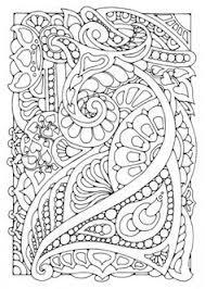 Coloring Page Kleurplaat Versiering Flowers Abstract Doodle