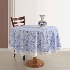 handmade indian cotton home décor 70 round printed fl tablecloth 4 seater